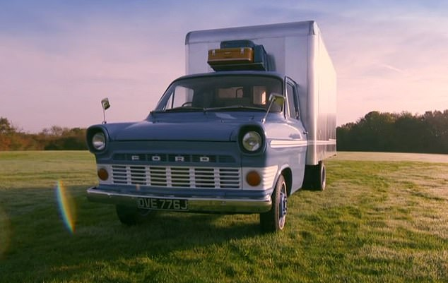 Inspired by his granddad's transit van, George Cklarke bought the cabin of an old Ford Transit, which co-presenter Will Hardy described as a 'wreck'. With the help of Will Hardy and Stu Abbott, he built a custom metal cabin on a tray on the back of the vehicle, pictured