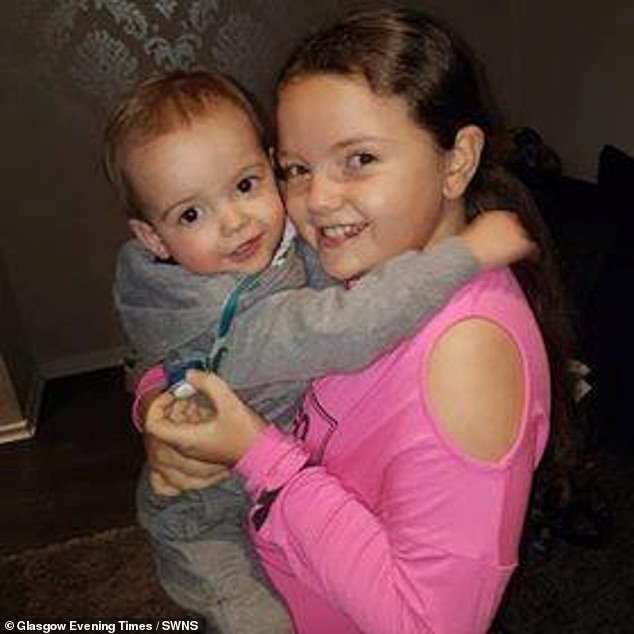 After being referred for a hospital appointment, doctors thoughtKaiann (pictured before her diagnosis with her younger brother) had osteoporosis. She was referred for a scan to confirm this, however, her mother rushed her to A&E that same day, where a scan revealed cancer