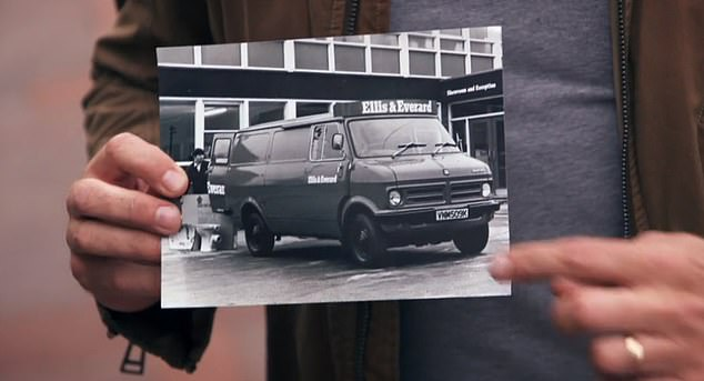 George Clarke was inspired to create the space by his grandfather's transit van (above)
