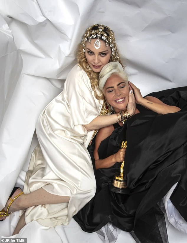 Friends now:Lady Gaga and Madonna feuded for eight years over Gaga's song Born This Way. But all seemed to be well between the mega stars on Sunday evening during Guy Oseary and Madonna's Oscars after-party in Los Angeles