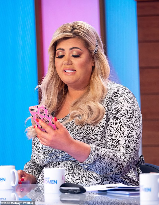 Out of order: Gemma is believed to have been hit by a string of 'nasty' messages when she kicked him out of her home