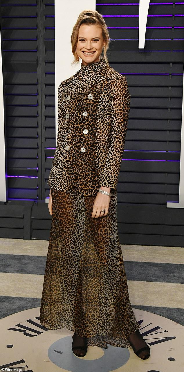 Fashionista: Sunday saw the Namibian beauty opt for a Dole & Gabanna leopard print ensemble or the Vanity Fair event following the Oscars