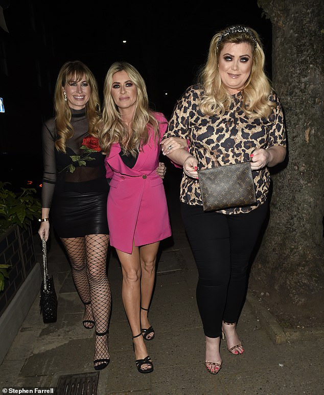 Girls' night: Gemma partied withReal Housewives Of Cheshire stars Dawn Ward and Ester Dee