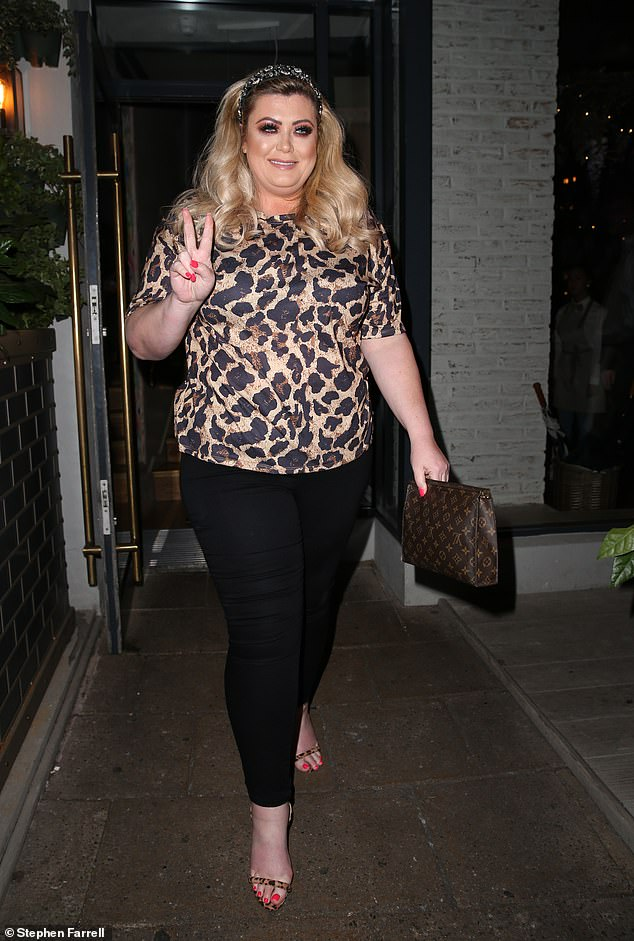 Taking her mind off things: Gemma tried to ignore the drama on Monday night, as she stepped out in Alderley Edge