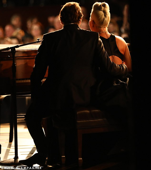 Close: The couple are incredibly tactile with one another leading people to remark on their closeness, but they played lovers in A Star Is Born, so is it any surprise?