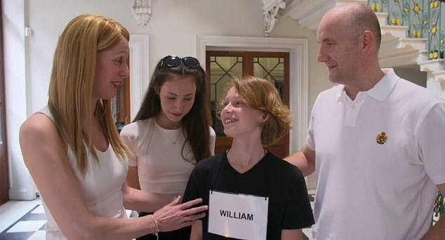 Claire Oliver-Harwood, from Mansfield praised her son William after he achieved a score of eight out of 10 in the first round of Child Genius, however viewers were quick to point out how uncomfortable her daughter looked