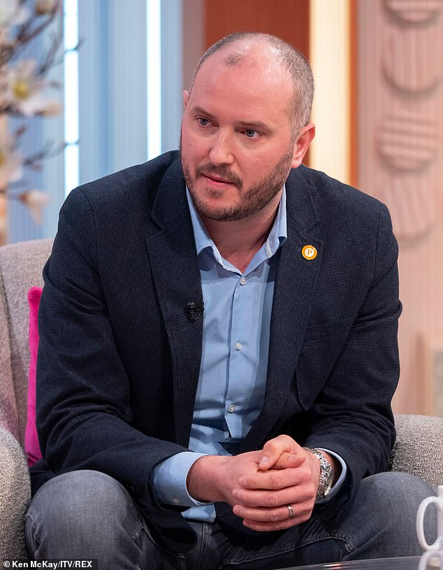 Steve Bland, pictured on Lorraine this morning, has revealed that  Freddie, three, doesn't understand that his mother Rachael passed away