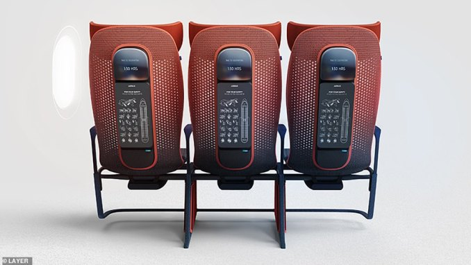 The chairs will also automatically adapt to adjust to a passenger's weight and size and be put into different modes such as 'massage', 'mealtime' or 'sleep'