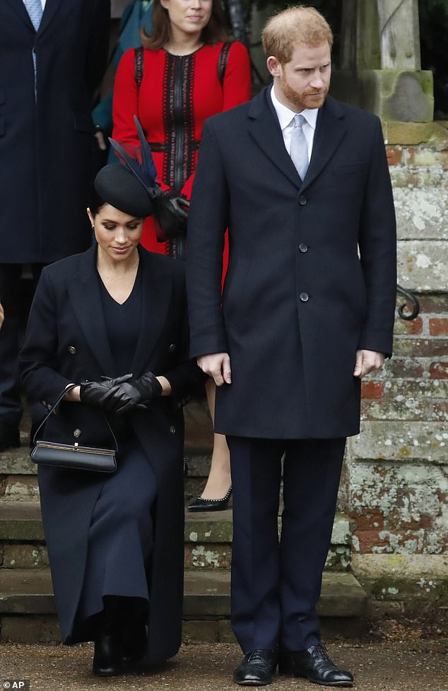 Meghan gave a deeper curtsy at Sandringham last Christmas, pictured.Former royal butler Grant Harrold told FEMAIL: 'It is clear that the Duchess of Sussex has perfected her curtsy over the last few years'