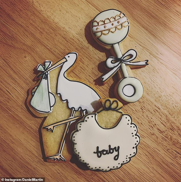 Goodies! Daniel recently shared a picture of the cookies from Meghan's star-studded baby shower in New York, and said he had 'such an incredible day celebrating'