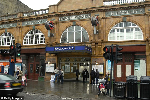 The road outside Earl's Court Underground Station in Kensington, London, is the most polluted in the country, according to Friends of the Earth's research