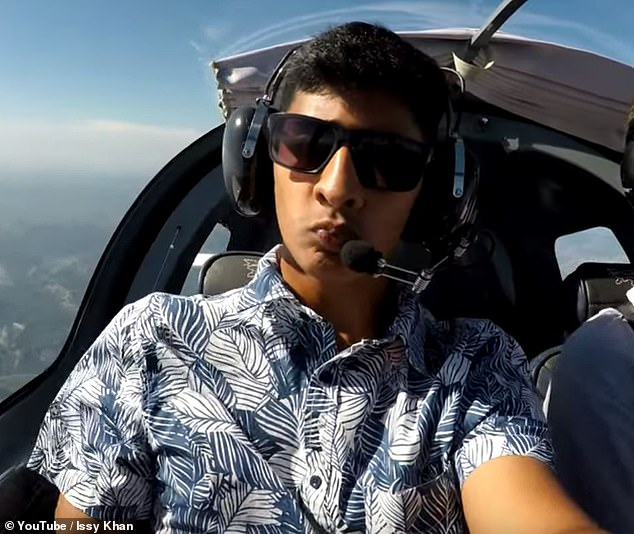 Ismaeel Khan, 20, from Durban, South Africa, received his private pilot's license last year and is currently working to get his commercial license