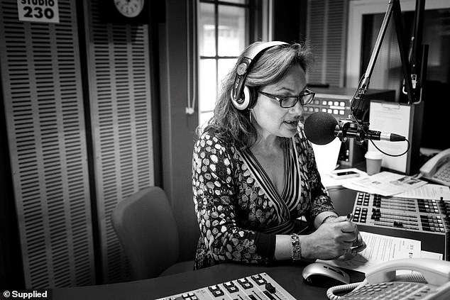 Warning signs: Jill said she knew something was wrong when she experienced specific symptoms: 'I had a bit of pain in my groin, a very sharp pain in my groin that made me call the doctor' (pictured on air at her ABC Newcastle studio)