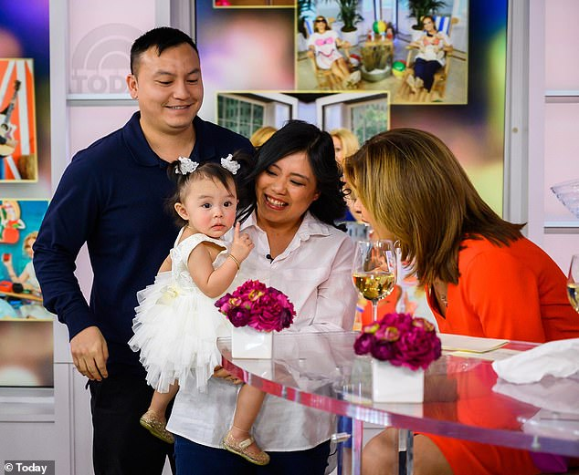 Meeting Hoda Kotb!The tot celebrated her win with her parents  on the Today show Tuesday