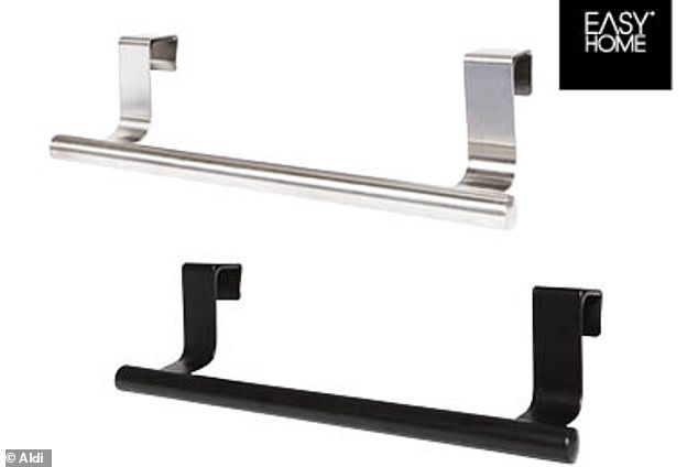 Aldi is also offering a range of accessories (pictured) including towel rails, priced at $3.99 each