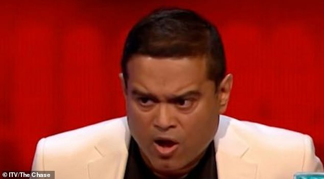 Incredible: The Chase viewers were left stunned as Chaser Paul Sinha 'stole' £41,000 from a team in a nail-biting finale