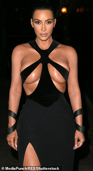 Inspiration: There was a network of straps like a spider in the outfit over the shoulders and the bust in memory of the late Mugler dress worn by Kim Kardashian recently