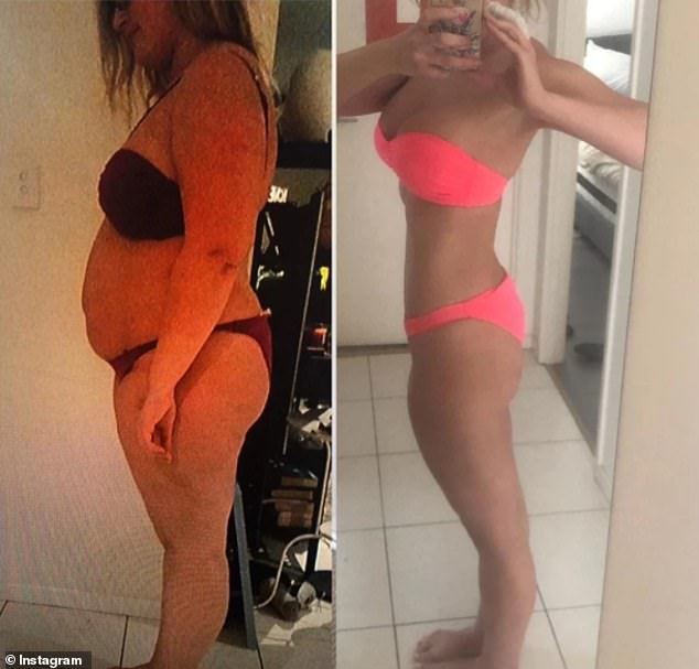 Alex shows her body transformation in bikini selfies - she went from130kg (20 stone) to69kg (10st 8lbs)