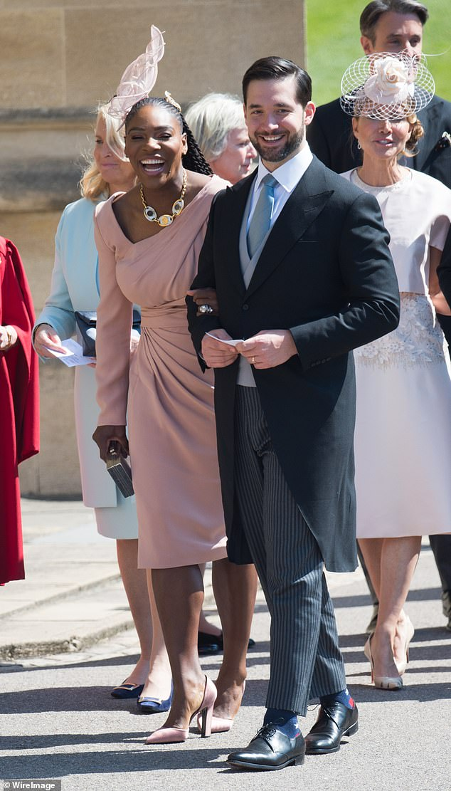 Catch up: The shower was a nice reunion for wedding guests like Serena (pictured)