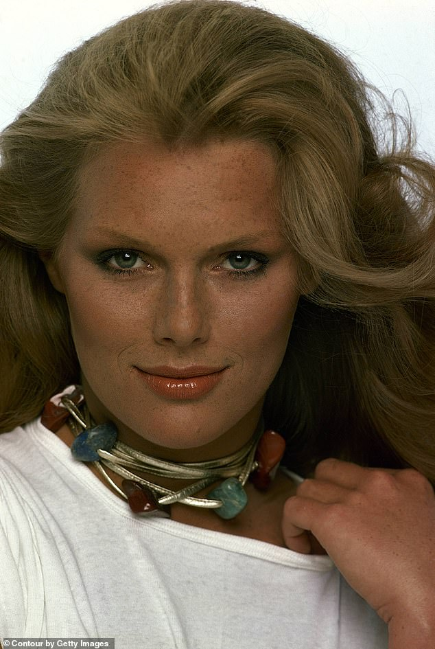 Patti Hansen is among the fashion industry's longest-serving models and is seen above modelling for Vogue 1977, aged 20