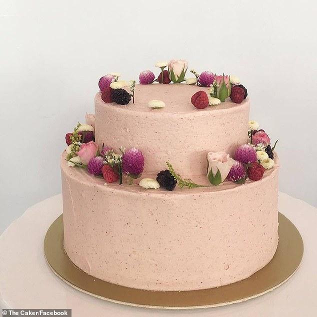 Baker Jordan Rondel shared the cake (pictured) that she made for an unimpressed bride on Facebook