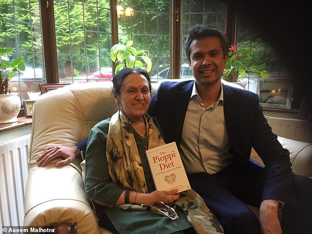 Dr Aseem Malhotra says a diet high in processed vegetarian foods contributed to his mother's frailty because she became deficient in protein and vitamins, leaving her with lower muscle mass and a higher risk of infections