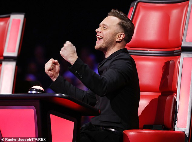 Going for it: Olly continued, 'When I was presenting [X Factor] The Voice came out, I wasn't considered as a judge... then it came up that I could be a judge on The Voice so I went for it'