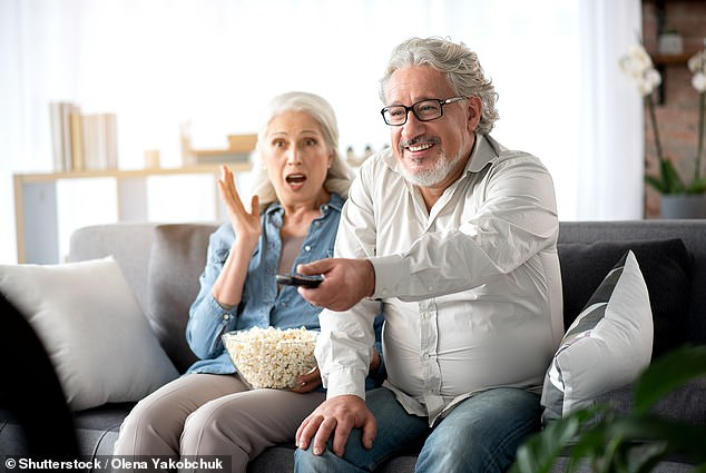 Over-fifties who watch more than 3.5 hours of TV a day are more at risk of memory loss (stock)