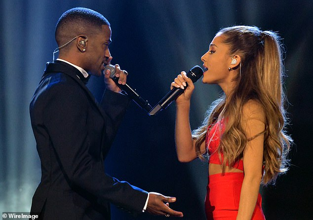 Collaborators? Ariana and Sean are seen together performing in November 2014; the couple were in a recording studio on Wednesday