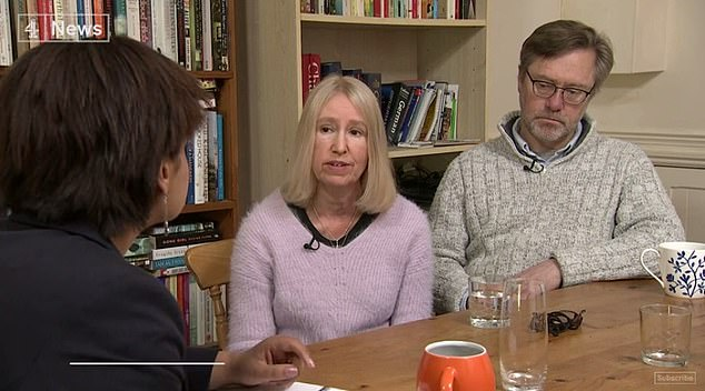 John Letts and Sally Lane spoke to Channel 4 News after Jack gave an interview to ITV last week in which he said: 'I miss my Mum'