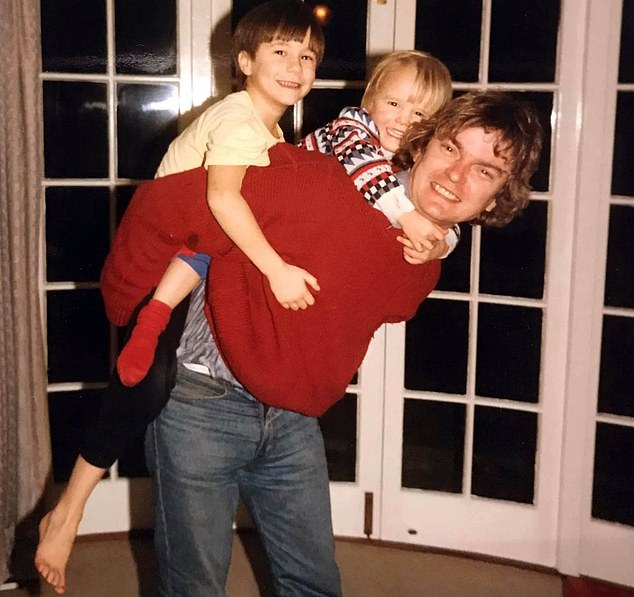 Richard Challen with the couple's son, David, as a child in the middle, and his brother James
