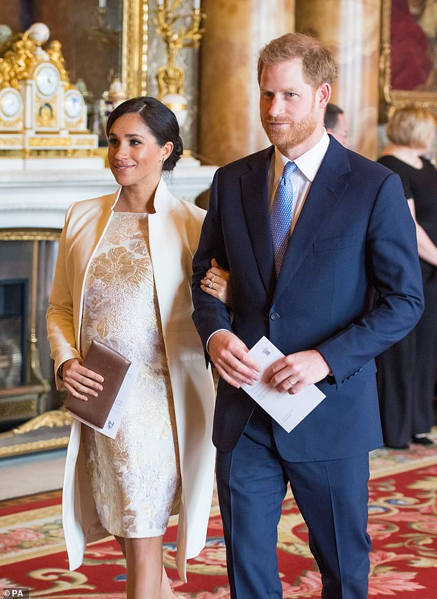 Meghan Markle and Prince Harry attended the celebratory event which praised Prince Charles's 50 years of service