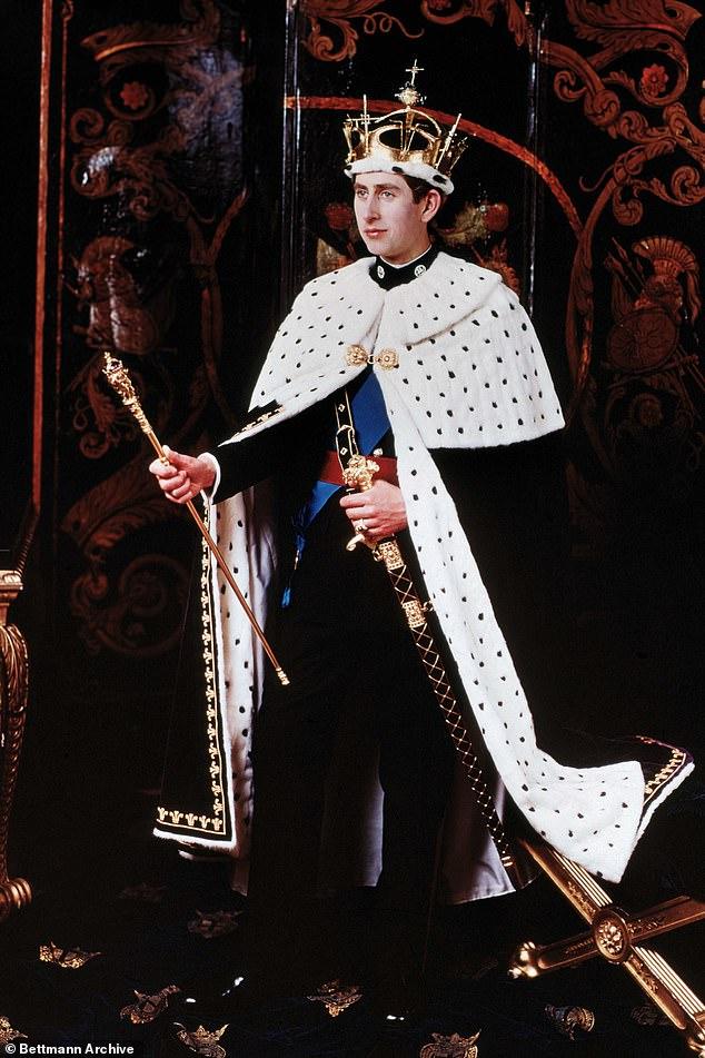 Prince Charles at his investiture on July 1, 1969at Caernarfon Castle