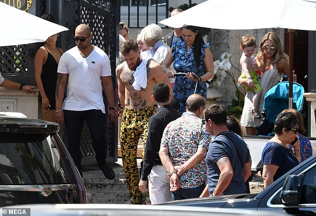 McGregor was also seen leaving the property in Miami Beach with his wife Dee Devlin