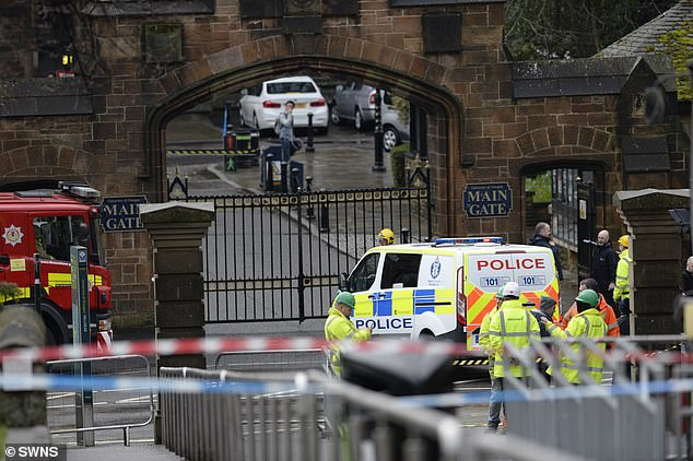 Students have been evacuated from the University of Glasgow after a 'suspicious package' was discovered in the mailroom