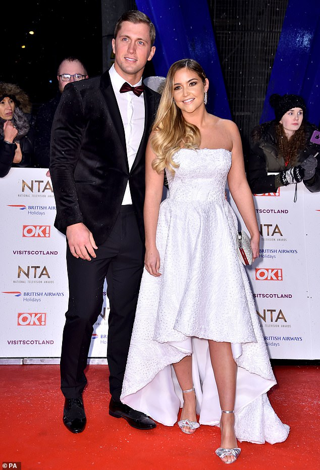 Candid: Jacqueline has admitted that she and Dan have had a difficult year but said she felt her marriage was stronger than ever (pictured at the NTAs in January)