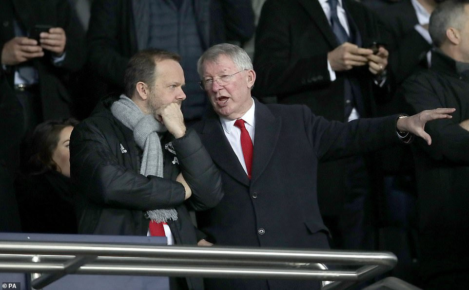 Legendary manager Sir Alex Ferguson was also in the stands, having travelled to Paris with the United players and staff