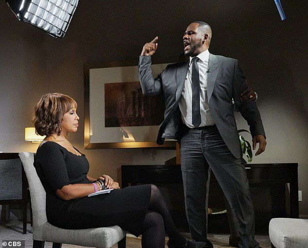 The new underage sex allegation out of Detroit came just hours after the R&B singer cried and ranted about being 'assassinated' by the sex abuse allegations during an interview with CBS This Morning's Gayle King (pictured above)