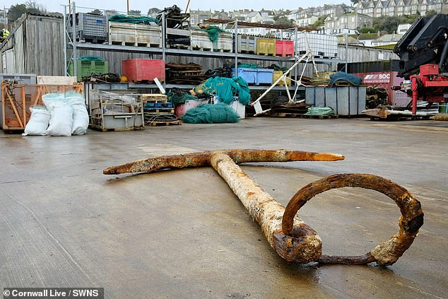 Experts say the anchor, which was brought up in a fishing vessel's net 20 miles (32km) off the coast, matches the one used on the Merchant Royal. The discovery is expected to launch a bid for divers to find the ship's riches that may lurk on the sea bed