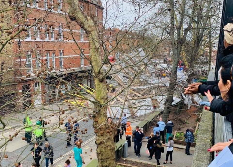 The Royal Free Hospital which is opposite the collapsed scaffolding has said they have not been required to treat any patients in relation to the incident