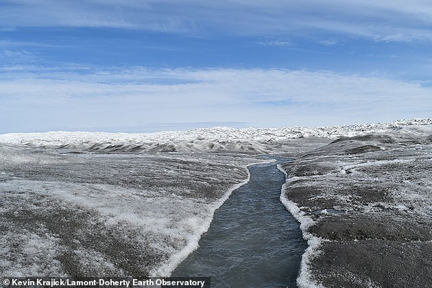 Greenland has been heavily losing ice in recent decades due to progressive warming. Since about 1990, average temperatures over the ice sheet have increased by as much as 1.8 degrees C (3.2°F) in summer, and up to 3 degrees C (5.4°F) in winter