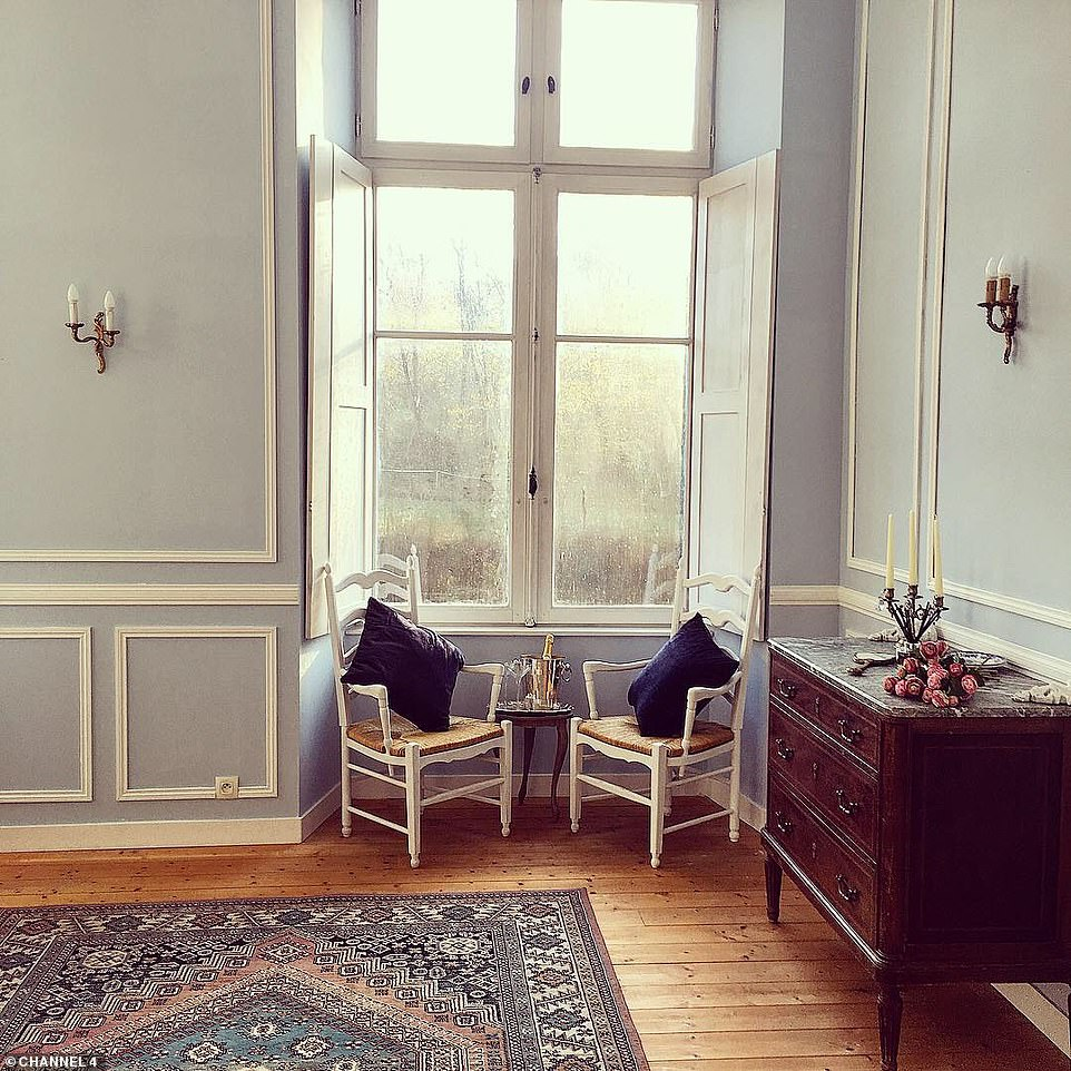 One of the many rooms inside the sprawling castle.The couple appear in the new series of Channel 4's Escape to the Chateau: DIY which follows plucky Brits taking on the task of renovating and running their own fairytale properties in France