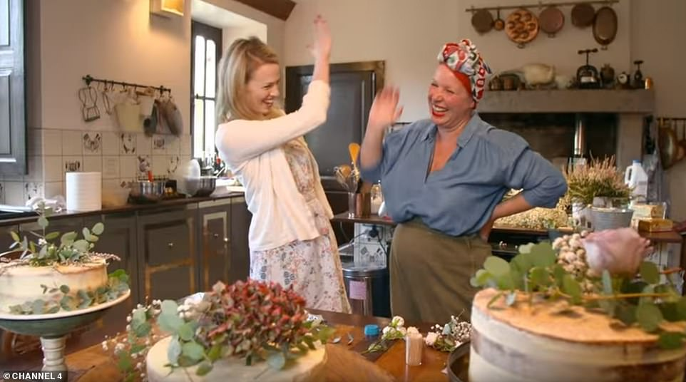 Erin in the kitchen withAngel Strawbridge, who appears on the new Channel 4 show as the couple find their feet in Chateau Bourneau. Angel is something of an expert, having bought and renovated a French chateau of her own with husband Dick