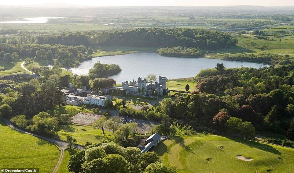 Dromoland Castle has recently been refurbished and it boasts a beautiful parkland golf course, with a panorama of the castle and Lough Dromoland