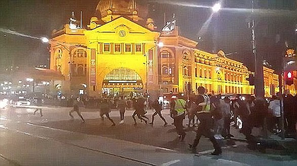 There has been an increased police presence around the Moomba Festival following the 2016 'Moomba riots' (pictured) linked to the Apex gang