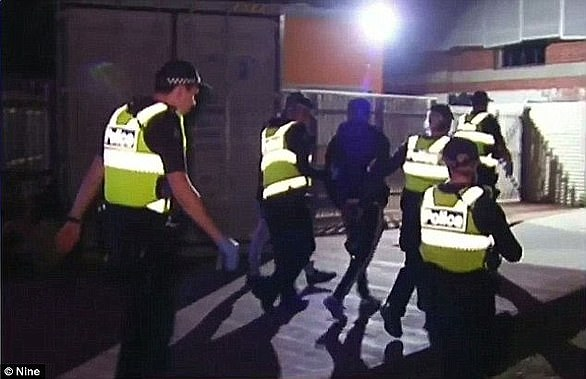 Police were pictured in full force for the 2016 event, which has been followed by violent clashes surrounding following Moomba festivals