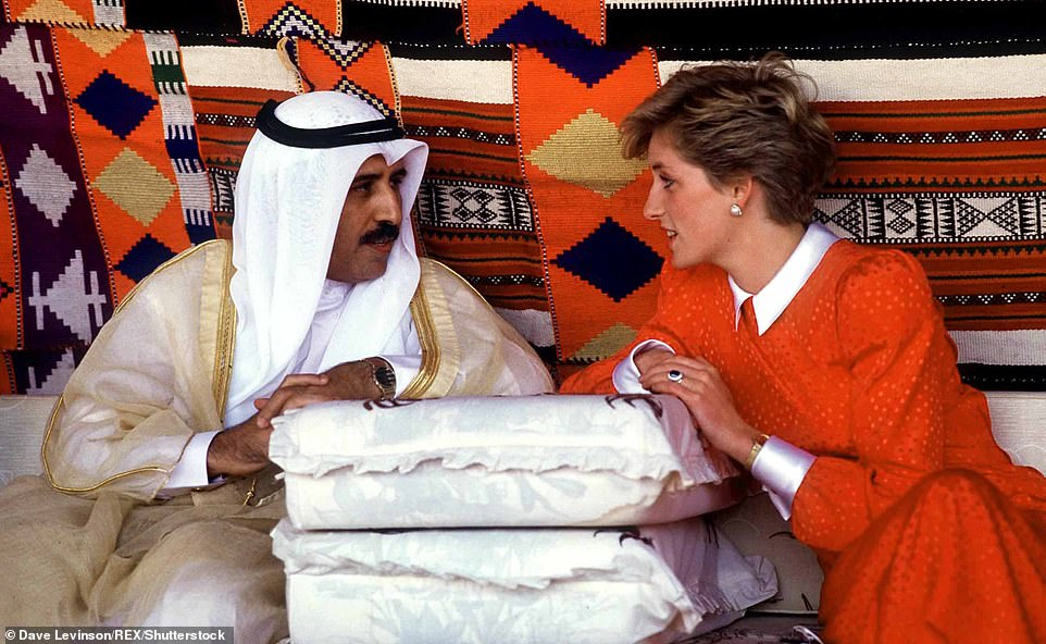 Royal visit: Princess Diana in Oman in 1986. She flew by helicopter to spend the day in the mountains with Prince Charles