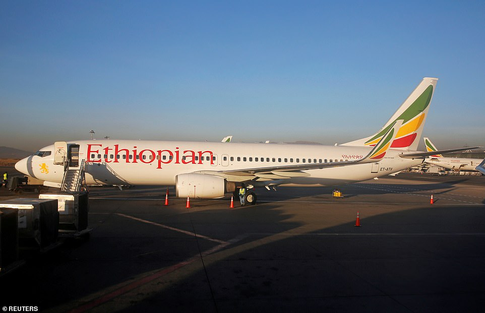 An Ethiopian Airlines Boeing 737 Max 8 went down within six minutes of take-off this morning (pictured: stock image)