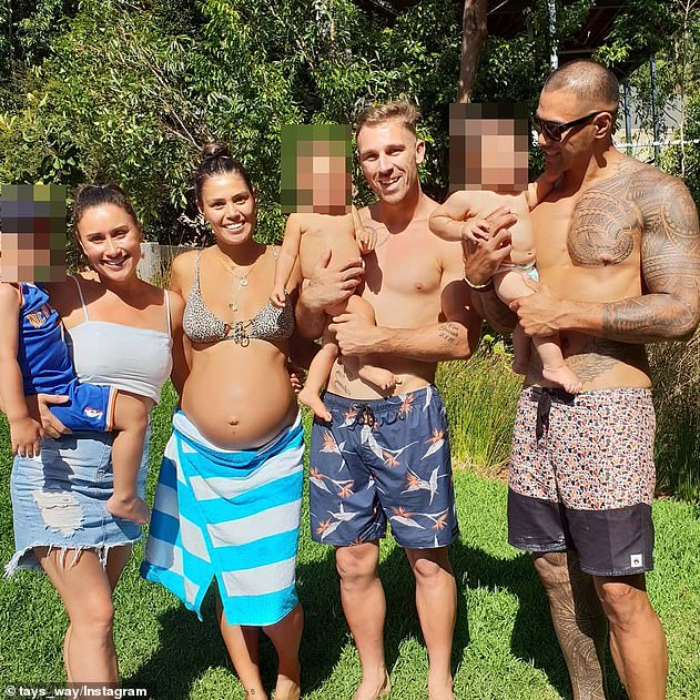 The Cartwrights and Wintersteins were pictured spending time together over the Christmas holidays at Currumbin, Queensland