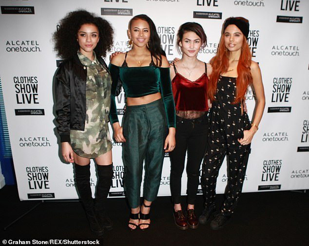 Back in the day: Jessica was previously a member of the short-lived girl group Neon Jungle who split in 2015 (pictured in 2014)